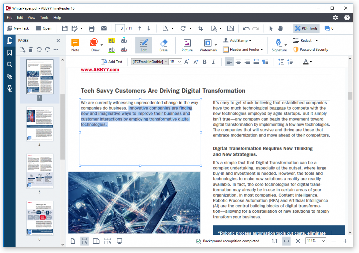 FineReader 15 unlocks new PDF editing and comparison